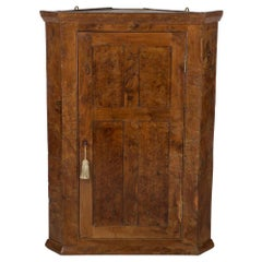 Yew Wood Corner Cupboard