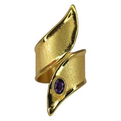 Yianni Creations 0.45 Carat Amethyst Ring in 18 Karat Gold