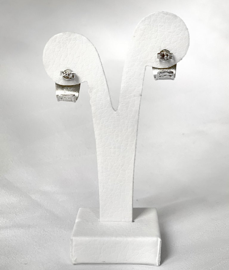 Yianni Creations 1.14 Carat Blue Topaz in Fine Silver and Palladium Earrings In New Condition For Sale In Astoria, NY