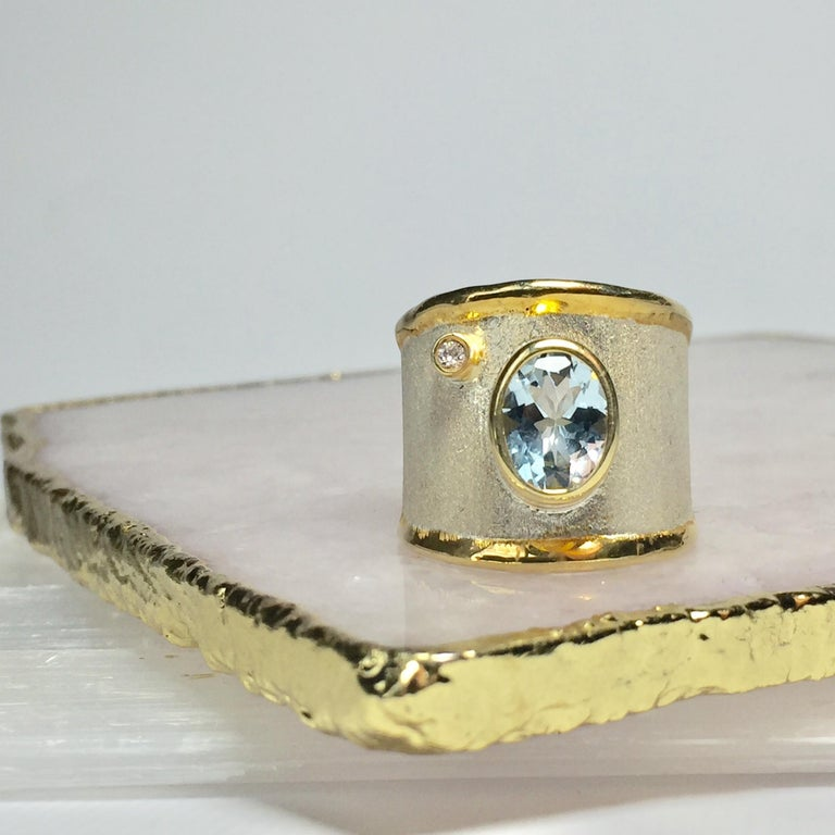 This is Yianni Creations handmade artisan ring from Midas Collection. The ring was crafted in Greece from fine silver of 950 purity and is plated with palladium to protect it from the elements. We in YC use special techniques of craftsmanship - the
