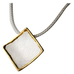 Yianni Creations Fine Silver and 24 Karat Gold Geometric Pendant Enhancer