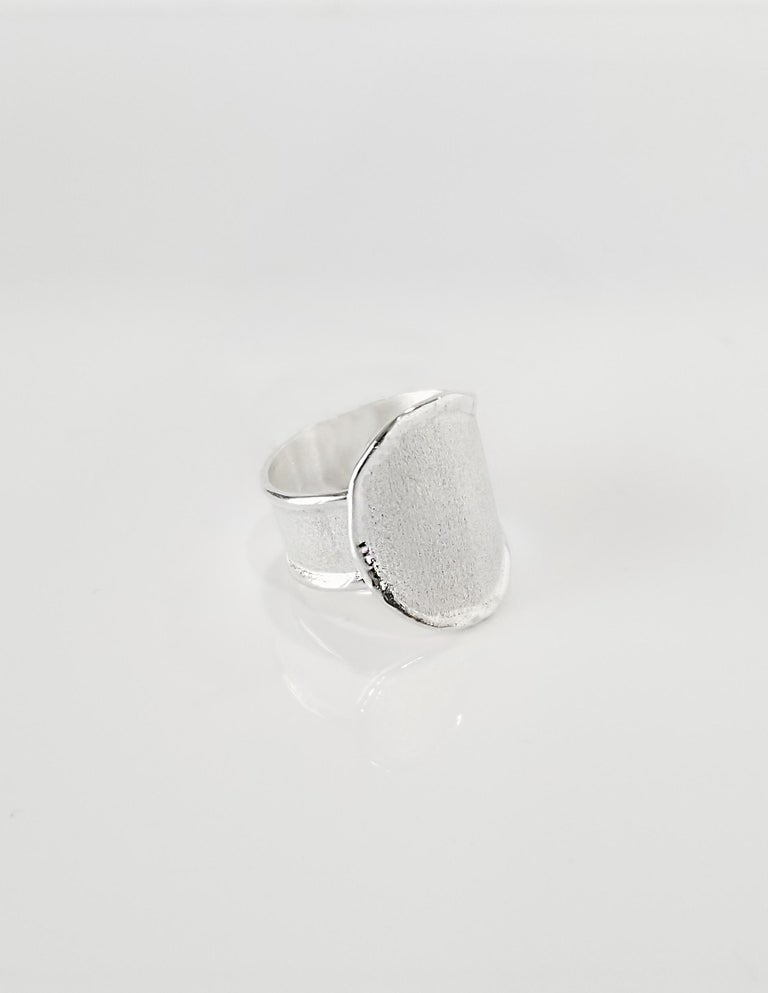 Contemporary Yianni Creations Fine Silver and Palladium Artisan Handmade Ring For Sale