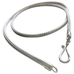 Yianni Creations Fine Silver and Palladium Handwoven Rope Necklace