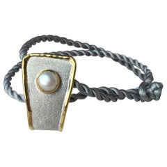 Yianni Creations Pearl Fine Silver and 24 Karat Gold Two-Tone Pendant