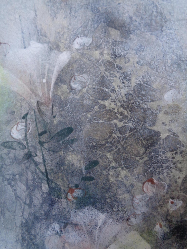 Flax Field (Linière) by Chen Yiching - Contemporary Nihonga Painting, Flora For Sale 1