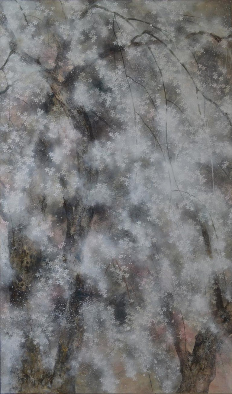 Hanami - Large-Scale Contemporary Nihonga Painting For Sale 1