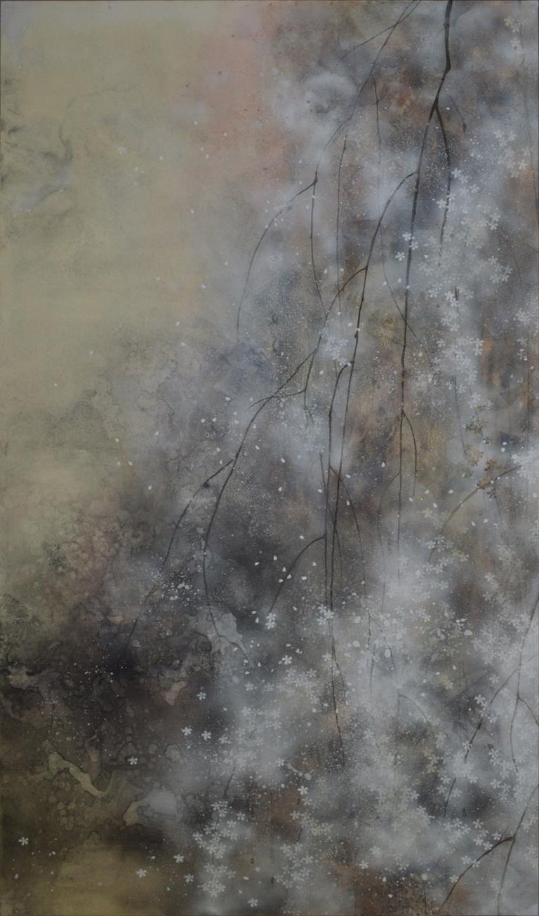 Hanami - Large-Scale Contemporary Nihonga Painting For Sale 2