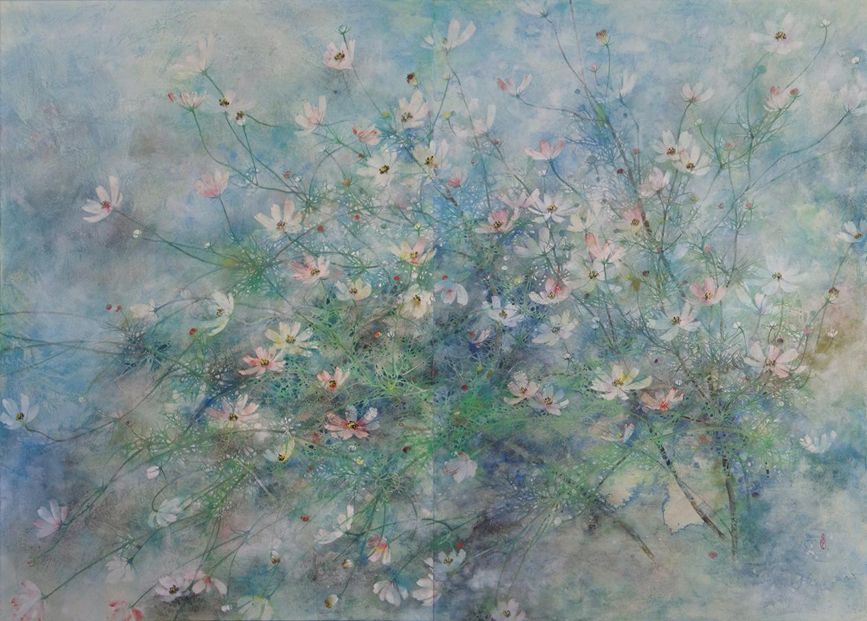 Hope, Cosmos series - Contemporary Nihonga (Japanese Painting)
