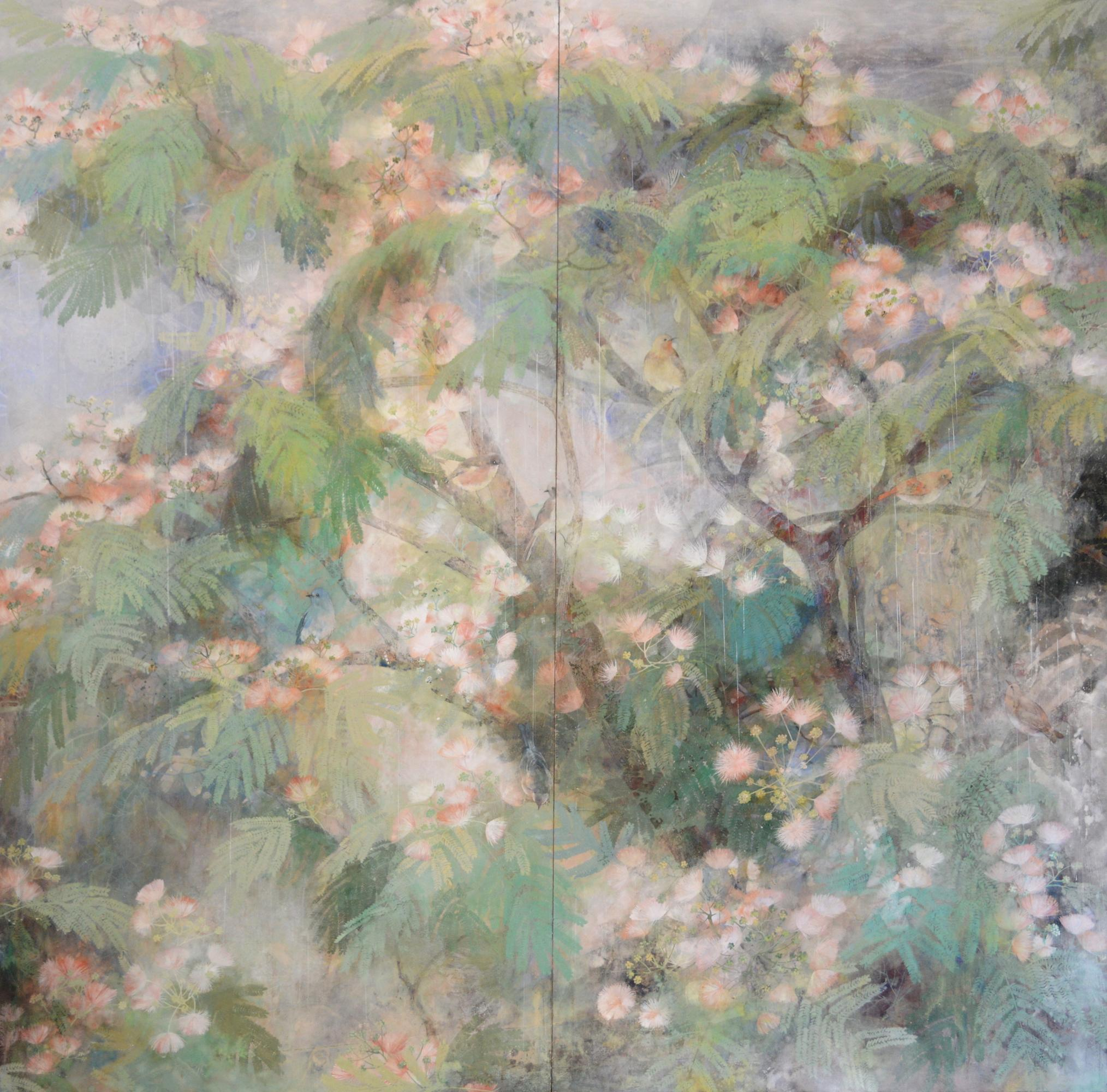 Love At First Sight - Large Scale Contemporary Nihonga (Japanese Painting)