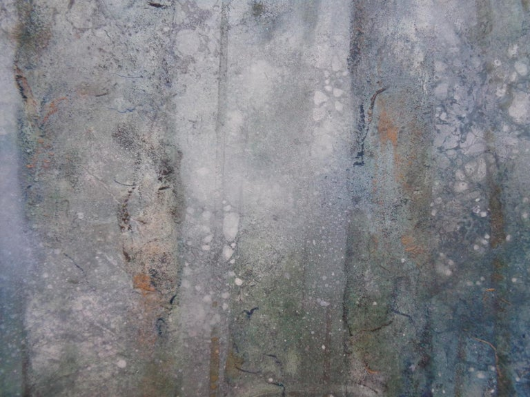 Plenitude II by CHEN Yiching - Nihonga landscape painting, forest - Painting by Yiching Chen