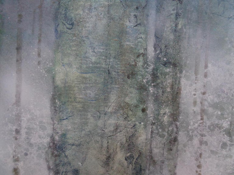 Plenitude II by CHEN Yiching - Nihonga landscape painting, forest - Contemporary Painting by Yiching Chen