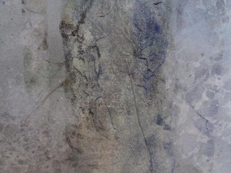 Plenitude II by CHEN Yiching - Nihonga landscape painting, forest - Gray Landscape Painting by Yiching Chen