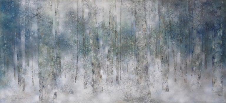 Yiching Chen Landscape Painting - Plenitude II by CHEN Yiching - Nihonga landscape painting, forest