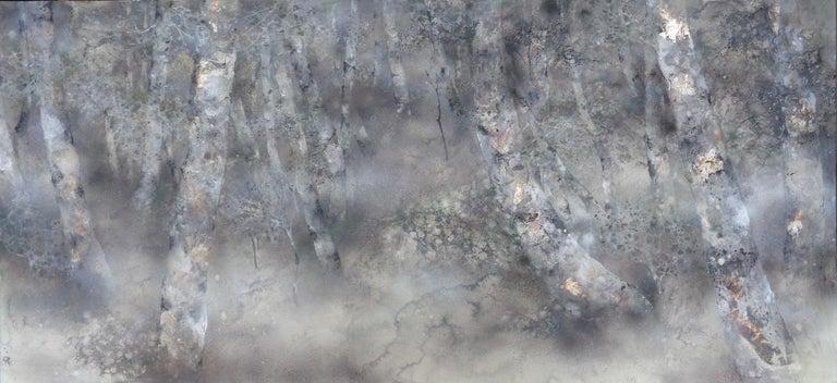 Yiching Chen Figurative Painting - Promenade, Contemporary Nihonga (Japanese Painting)