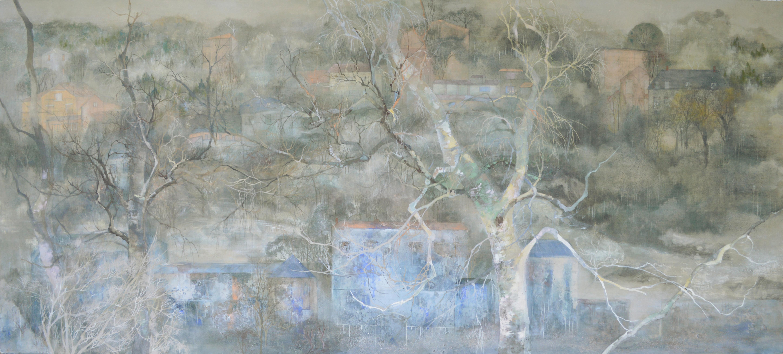 Quiétude (Tranquility) - Landscape painting, large size
