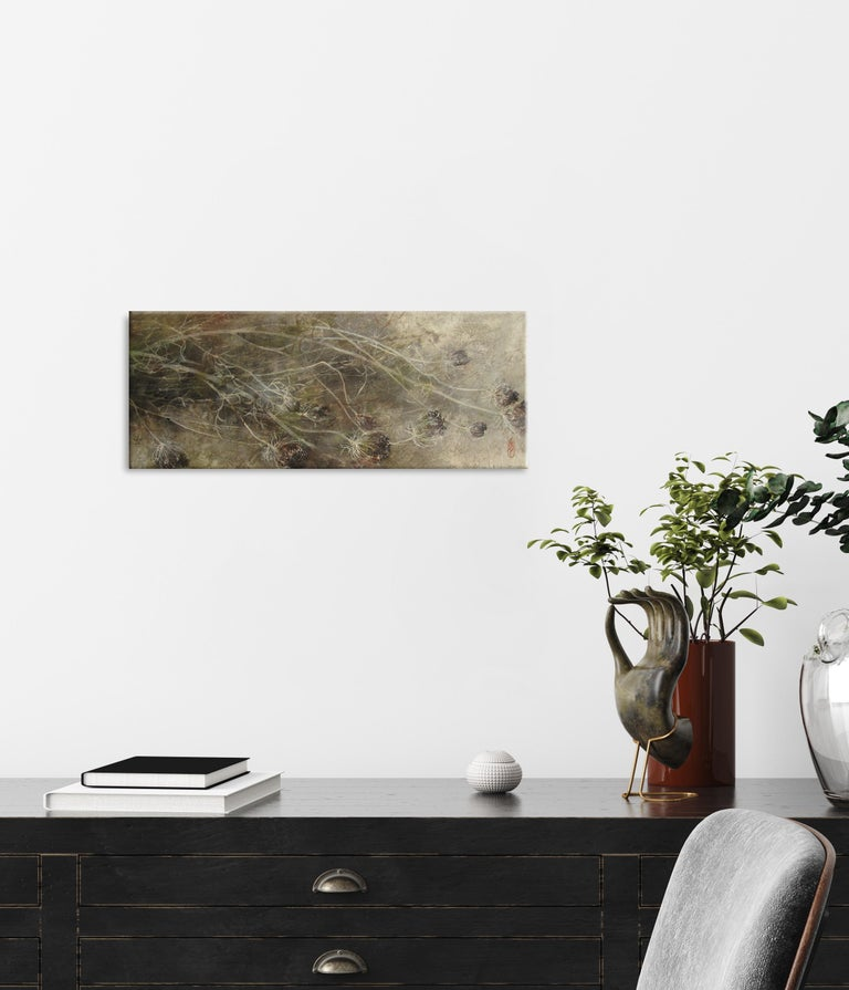 Umbel (Ombelle) by Chen Yiching - Contemporary Nihonga Painting, Flora For Sale 1