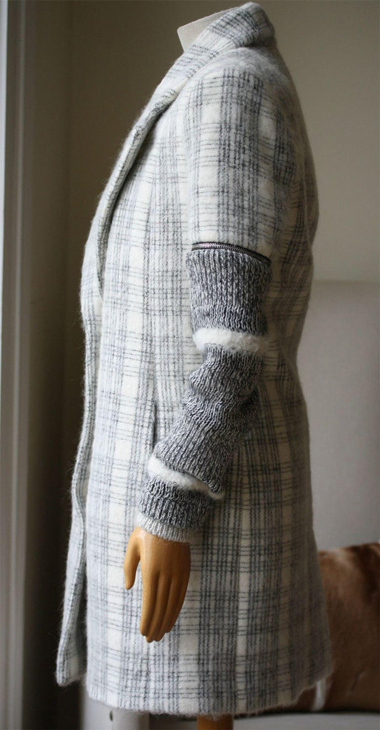 Yigal Azrouel Windowpane Plaid Coat  In Excellent Condition For Sale In London, GB