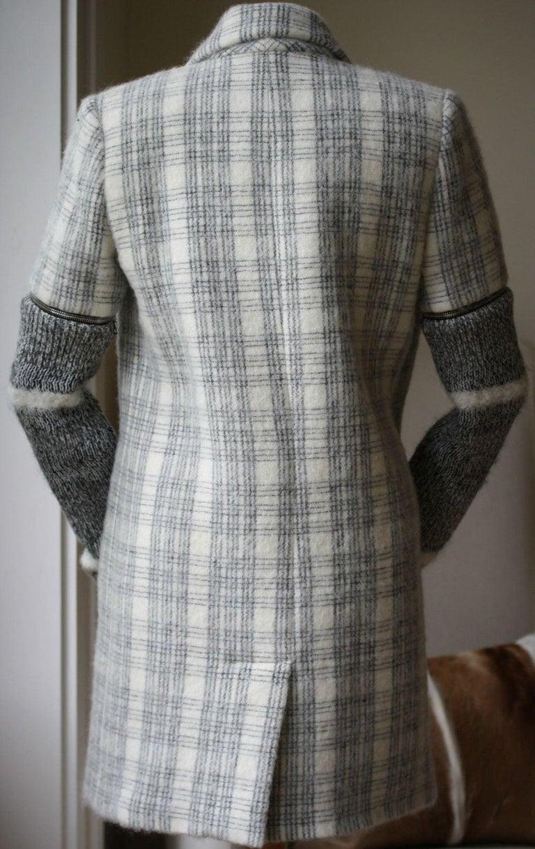 Women's Yigal Azrouel Windowpane Plaid Coat  For Sale