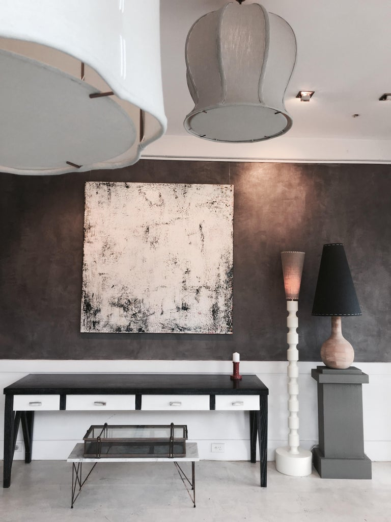 Australian Yin-Check Table Lamp by Wende Reid For Sale