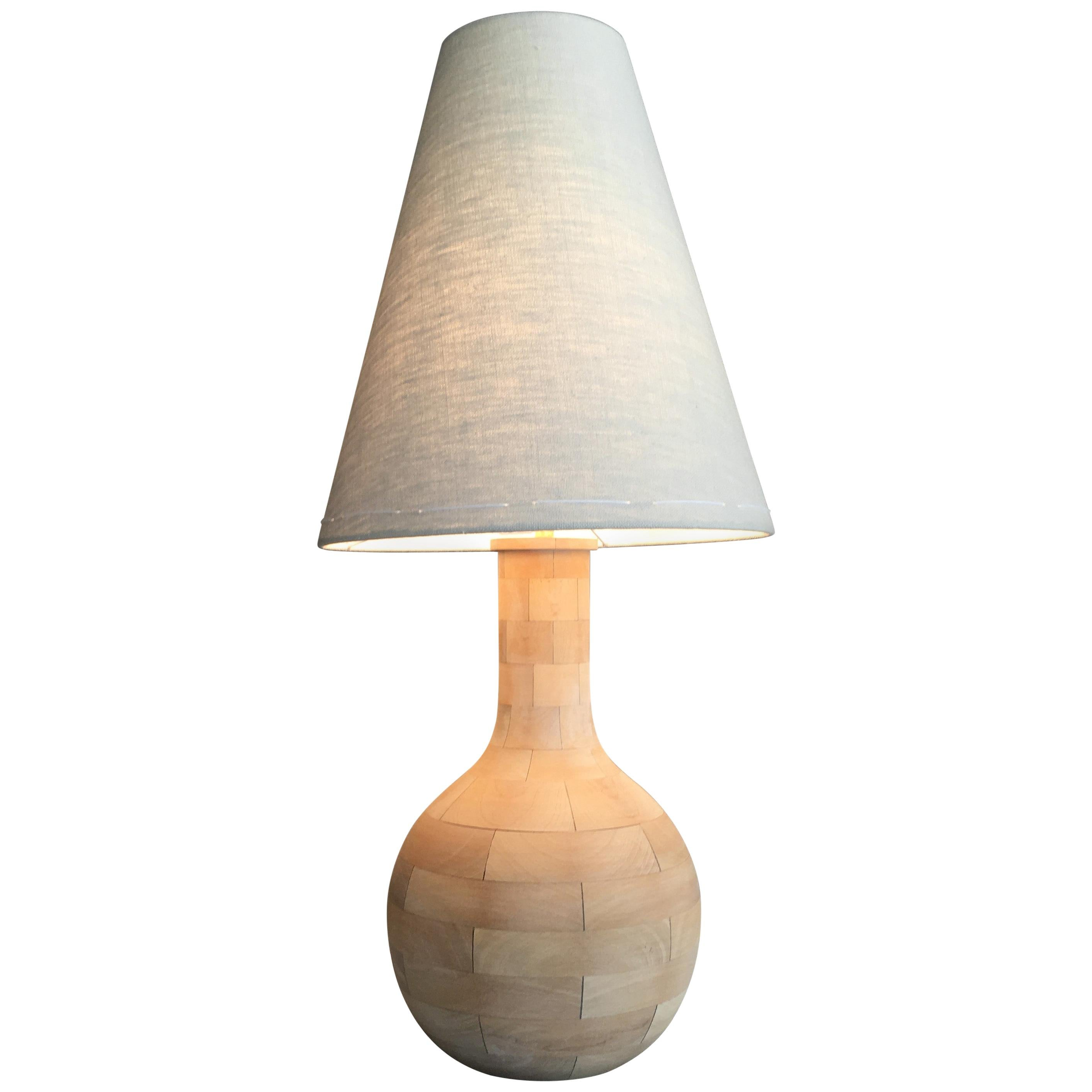 Yin-Check Table Lamp by Wende Reid