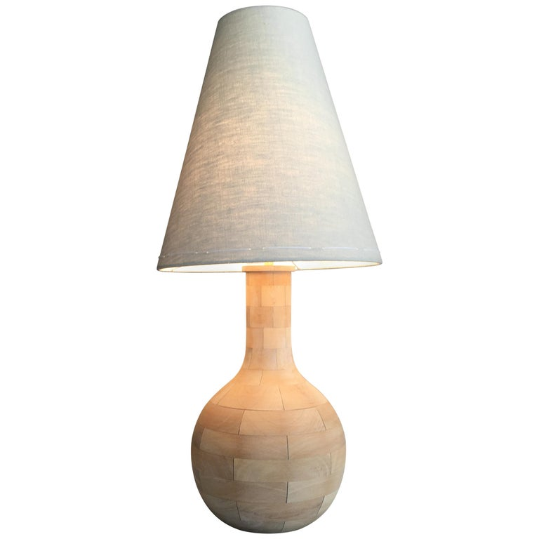 Yin-Check Table Lamp by Wende Reid For Sale