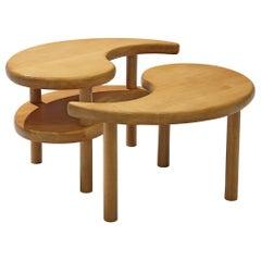 Yin Yang Nesting Coffee Table in Beech