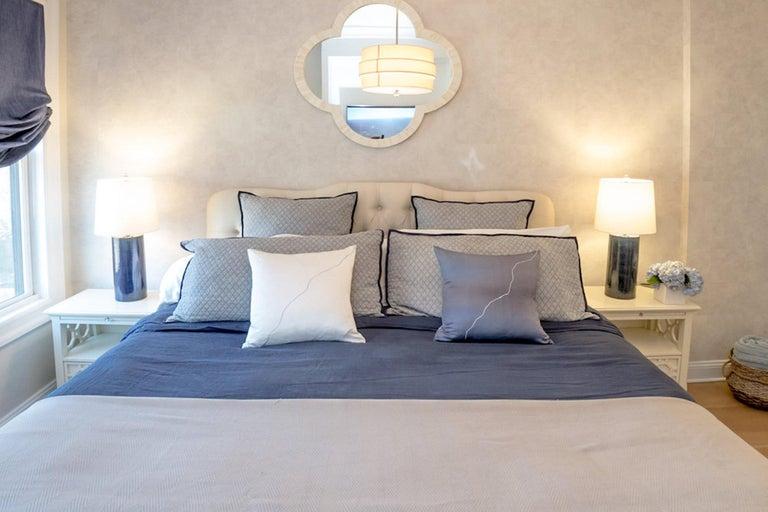 Modern Yin Yang Pillow, Silk, Double-Sided For Sale