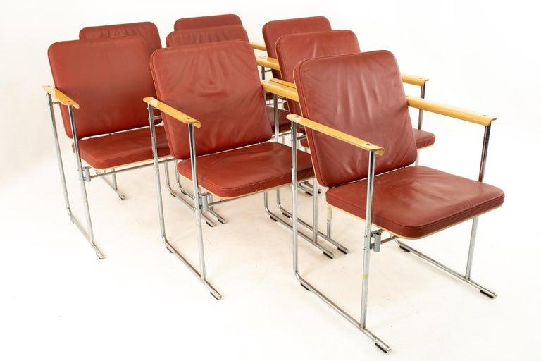 American Yjro Kukkapuro Midcentury Dining Chairs, Set of 8 For Sale