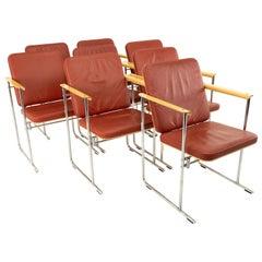 Yjro Kukkapuro Midcentury Dining Chairs, Set of 8