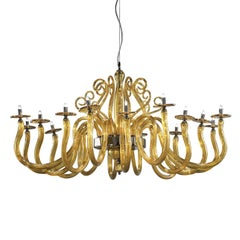 Yncanto Amber Chandelier with 16 Lights