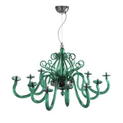 Yncanto Green Chandelier 12 Lights