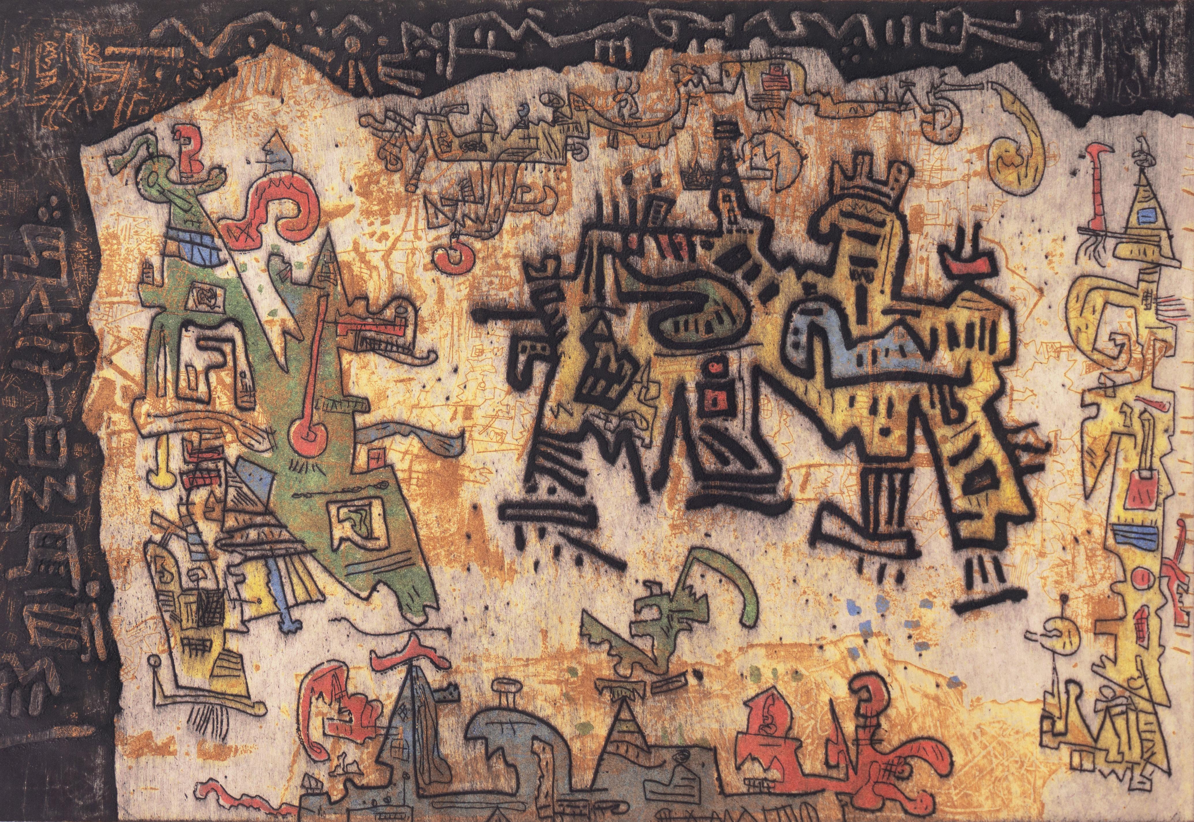 'Tribal Coast', Expressionist Woman artist, Museum of Modern Art, Guggenheim