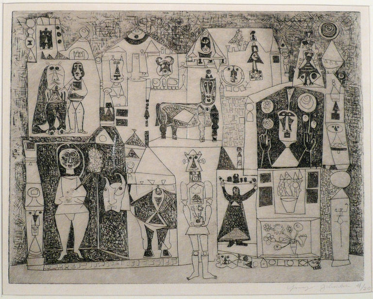 Ynez Johnston Abstract Print - UNTITLED