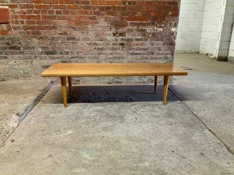 Scandinavian Modern Yngvar Sandstrom for Nordiska Kompaniet Butcher Block Coffee Table For Sale