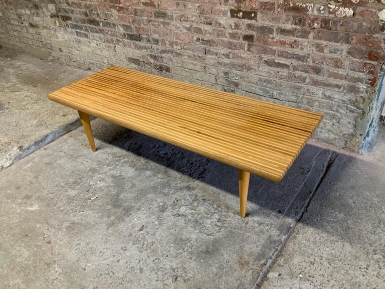 Yngvar Sandstrom for Nordiska Kompaniet Butcher Block Coffee Table In Good Condition For Sale In Garnerville, NY