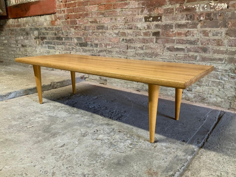 Beech Yngvar Sandstrom for Nordiska Kompaniet Butcher Block Coffee Table For Sale