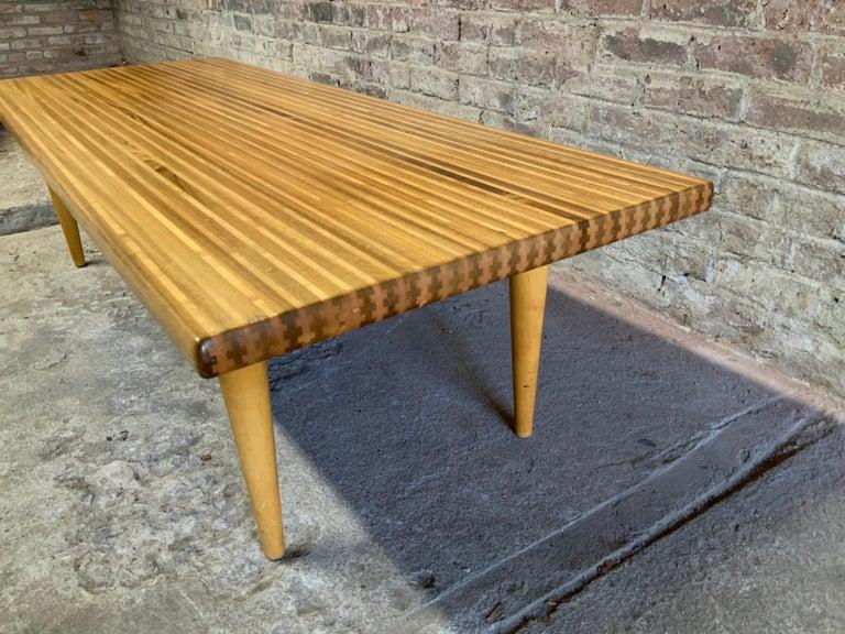 Yngvar Sandstrom for Nordiska Kompaniet Butcher Block Coffee Table For Sale 1