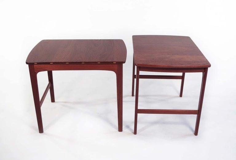Yngvar Sandstrom Side Tables in Solid Teak by AB Seffle Møbelfabrik, Sweden For Sale 4