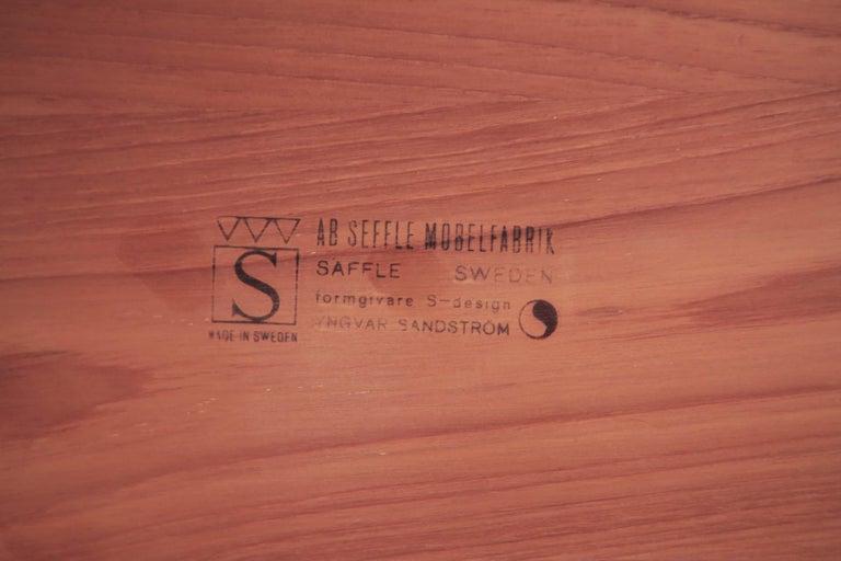 Yngvar Sandstrom Side Tables in Solid Teak by AB Seffle Møbelfabrik, Sweden For Sale 5
