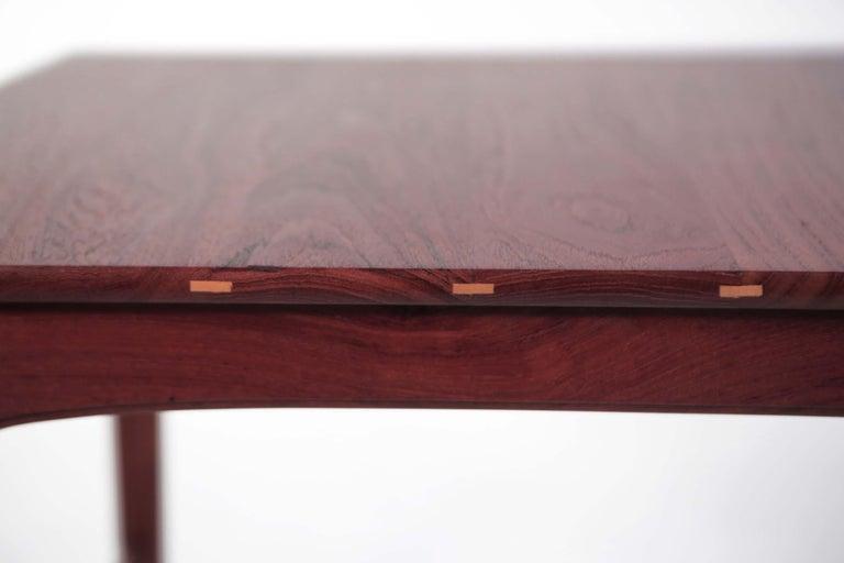 Mid-Century Modern Yngvar Sandstrom Side Tables in Solid Teak by AB Seffle Møbelfabrik, Sweden For Sale