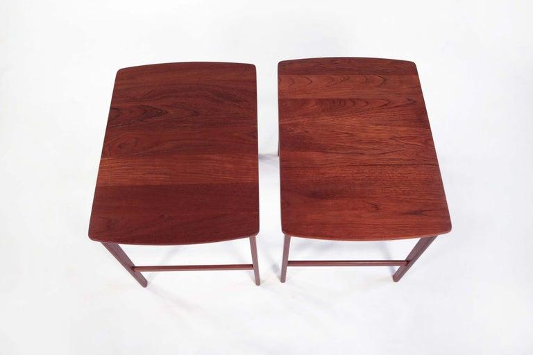 Swedish Yngvar Sandstrom Side Tables in Solid Teak by AB Seffle Møbelfabrik, Sweden For Sale