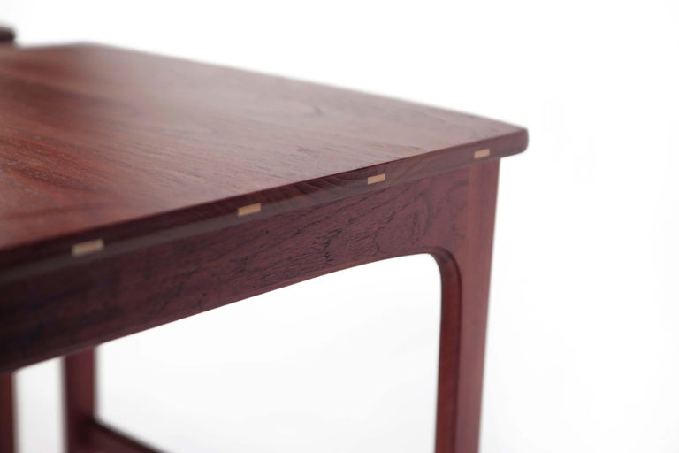Yngvar Sandstrom Side Tables in Solid Teak by AB Seffle Møbelfabrik, Sweden In Good Condition For Sale In Los Angeles, CA