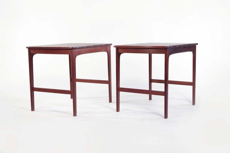 20th Century Yngvar Sandstrom Side Tables in Solid Teak by AB Seffle Møbelfabrik, Sweden For Sale