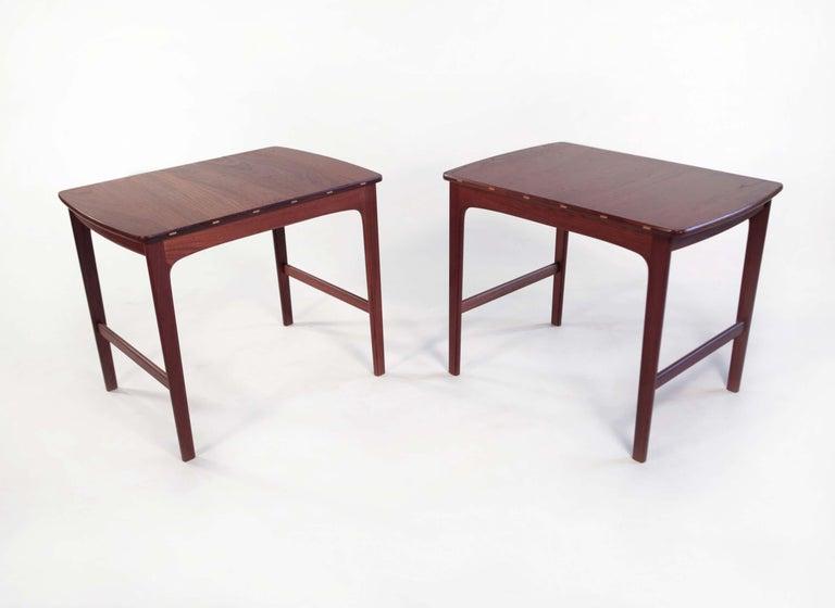 Yngvar Sandstrom Side Tables in Solid Teak by AB Seffle Møbelfabrik, Sweden For Sale 1