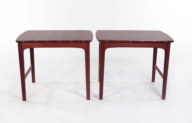 Yngvar Sandstrom Side Tables in Solid Teak by AB Seffle Møbelfabrik, Sweden For Sale 2