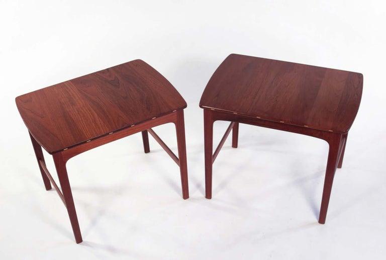 Yngvar Sandstrom Side Tables in Solid Teak by AB Seffle Møbelfabrik, Sweden For Sale 3