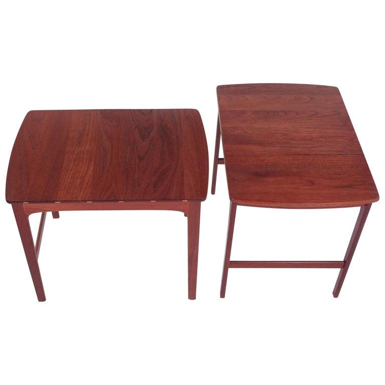 Yngvar Sandstrom Side Tables in Solid Teak by AB Seffle Møbelfabrik, Sweden For Sale