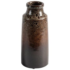 Yngve Blixt, Cylindrical Glazed Vase with Beveled Rim, Sweden, 1970s