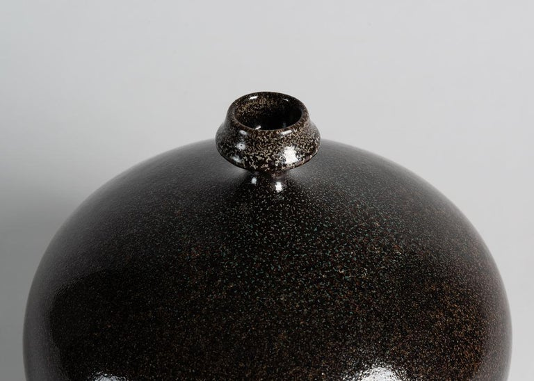 Swedish Yngve Blixt, Round Vase with Beveled Rim, Sweden, 1970s For Sale