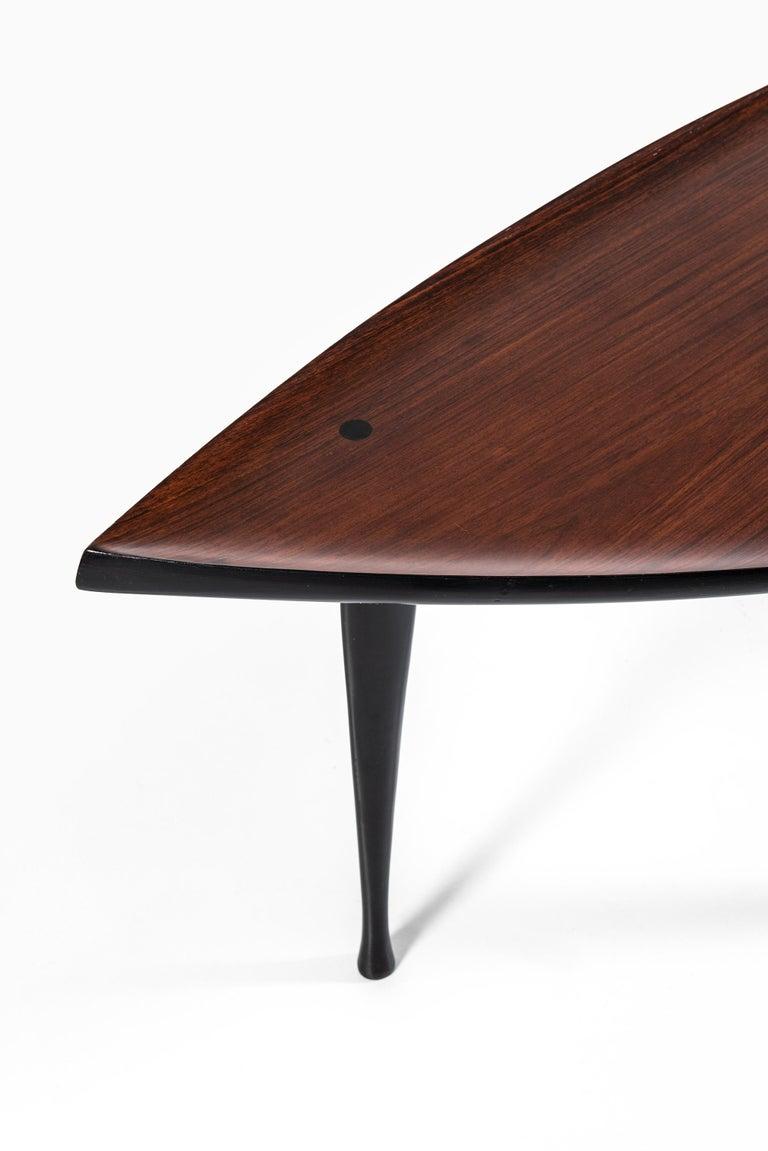 Rare coffee / side table designed by Yngve Ekström. Produced by Westbergs in Tranås, Sweden.